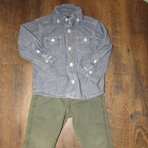 Carters outfit pants and shirt toddler boy size 2t